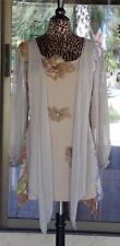 Pretty Angel Light Brown Layered Look Side Tie Tunic Or Dress Sz. S, L
