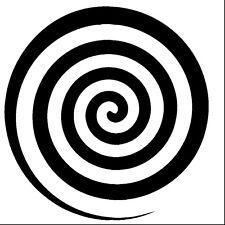 Hypnotic Wheel vinyl decal sticker weird strange Psychic hypnotism