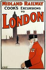 TX224 Vintage Midland Railway London Travel Tourism Poster Re-Print A4