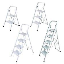Stahl Haushaltsleiter Klapptritt Stehleiter 2 / 3 / 4 / 5 Stufen Leiter Auswahl