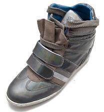 Serafini scarpe sneakers alte pelle shoes Donna argento Zeppa interna Women 2757