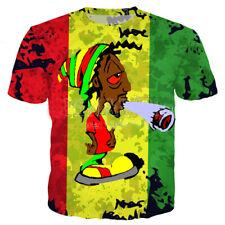 BoB Marley weeds Plus size Women Men T-Shirt 3D Print Short Sleeve Tee tops