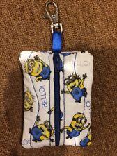 Minion Clip On Zipper Pouch Case on Backpack Sports Bag Hold Money Inhaler Keys