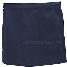 Hill Girl Skorts School Uniforms Skirt/Short Elastic Back Waist Flat front Navy