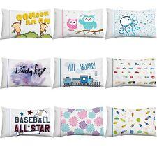 1pc Assorted Childrens Pillowcase Microfiber Owl Trains Cars Dahlia Pillow Cover