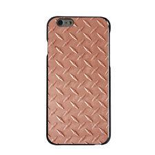 Hard Case Cover for iPhone 5 5S SE 6 6S 7 PLUS Orange Diamond Plate Steel