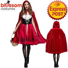 K552 Ladies Deluxe Little Red Riding Hood Book Week Fairytale Dress Up Costume