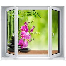Aufkleber schein dieAuge (Scheinbild) fenster Kiesel und orchidee Zen 5318 5318