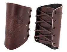 1 Paar Leder-Armschützer Armstulpen Armschienen - Mittelalter LARP Reenactment