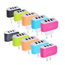 Viajar energía de CA para teléfono móvil Enchufe EE. UU./Eur Moda portátil Cargador USB de 3 puertos