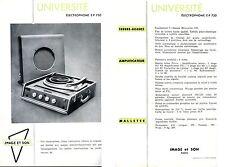 Publicité électrophone tourne-disques EP 750 phono Image & Son Université