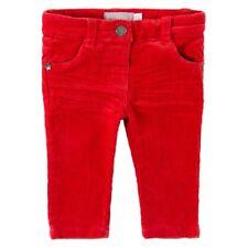 Pantaloni di Velluto a Coste Corallo Rosso Tgl 86,92,98,104 per Ragazza Boboli