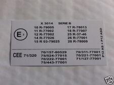 AUTOCOLLANT CEE 71/ 320 MATRA RANCHO