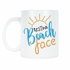 New listing Resting Beach Face Mug Funny Beach Mugs