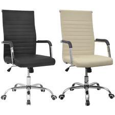 Bürostuhl Drehstuhl Chefsessel Schreibtischstuhl Kunstleder Stuhl Schwarz/Creme