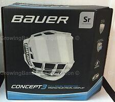 Bauer Concept 3 Full Shield Visor! SR Hockey Helmet Visor & Bag, Spray Option