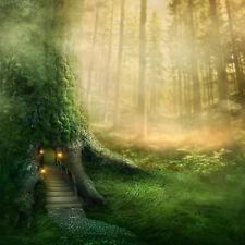 Fototapete Baumhaus Wald Märchenwald - Kleistertapete oder Selbstklebende Tapete