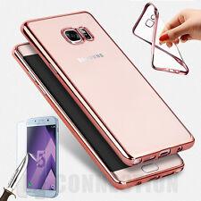 Coque Housse SAMSUNG Galaxy A3/5/7 Effet métallique + Protection VERRE TREMPE