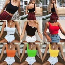 T-shirts Yoga Vest Single Shoulder Women Single Strap Bra Tube Crop Top