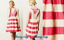 NEW Sz 6 Anthropologie Azalea Stitched Dress By Leifsdottir $298 Effortless