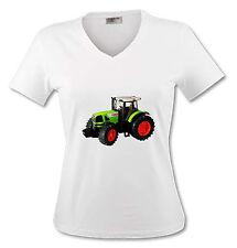 T-shirt Femme Tracteur vert - du S au XL