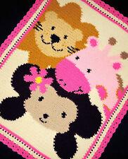 Crochet Patterns- ZOO SAFARI FRIENDS Baby Girl Pattern
