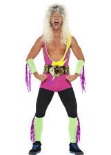 Mens 80s Retro Wrestler Costume