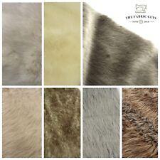 "Soft High Pile Animal Faux Fur Fabric, Premium Quality,7 Designs, 20mm Thick,63"""