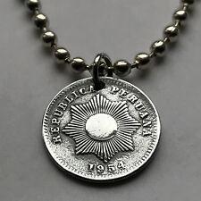 Peru centavo coin pendant Peruvian sun rays sol Inca Cuzco Machu Picchu n002050