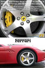Brake caliper decal sticker to fit Ferrari 355 460 front & rear set Unit x4 65mm