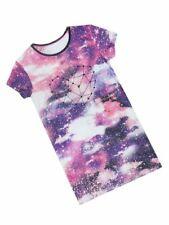 Girls Uk Store Cosmic Heart Print Nightdress Night Dress Nightie Purple Pink Age