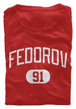 Sergei Fedorov T-Shirt Detroit Red Wings NHL HOF Regular/Soft Jersey #91 (S-3XL)