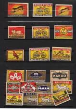 Ensemble étiquettes Inde Lot 3