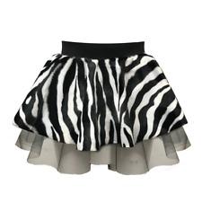 Zebra Animal Print Tutu Skirt Dance Fancy Dress Costume Childrens Zoo