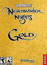 Atari BioWare Neverwinter Nights Gold Role-Playing Game Windows PC CD-ROM (2003)