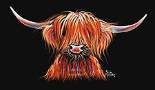 """Highland Vaca Impresión de lona caja 30x15 pulgadas de la pintura original """"Harley"""""""