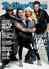 Rolling Stone Magazine Adam Levine Christina Aguilera Lana Del Rey,Blake Shelton