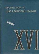 1957 USS LEXINGTON, CVA 16, NAVY FAR EAST CRUISE BOOK