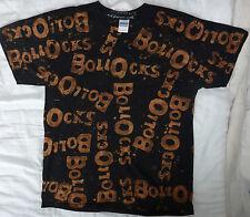 Maldición década de 1970 Punk pistolas grandes anarquía no importa negro y camiseta de Bleach