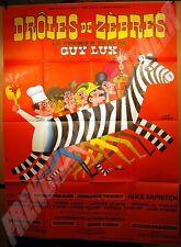 AFFICHE CINEMA 1977 Hervé Morvan DRÔLES DE ZEBRES GUY LUX SIM COLUCHE ZITRONE