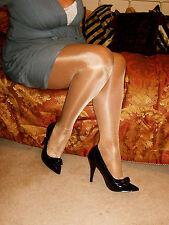 ** Vintage ** Glamour Retro Nylons elegante Calzas Pantimedias alto brillo alto Brillo