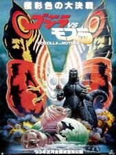 Godzilla vs. Mothra The Battle for Earth 1992 Vintage Huge Print POSTER Affiche