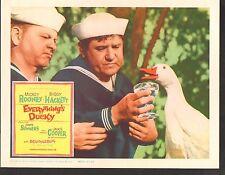 1961 MOVIE LOBBY CARD #1-0244 - EVERYTHINGS DUCKY - MICKEY ROONEY