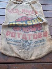 Vintage Holsum Potatoes Red Skin Associated Grand Forks Grafton N D Burlap Sack