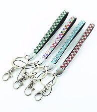 Bling Rhinestone Checker Wristlet key chain