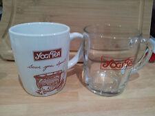 YOGI TEA MUGS-Genuine Rare Ceramic White or Clear Glass tea mugs-Brand New Bag