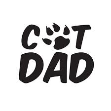Cat Dad Vinyl Decal Window Sticker with Paw Print