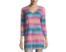 Porto Cruz Pineapple Swimsuit Cover-Up Burnout Tunic Size S, M, L, XL $42.00