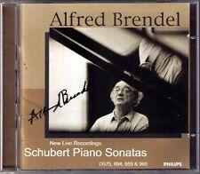 Alfred BRENDEL Signiert SCHUBERT Piano Sonata D.575 894 959 960 2CD BBC Live