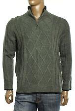 New Mens Geoffrey Beene Mock Shepra Lined Neck 1/2 Zip Pullover Sweater
